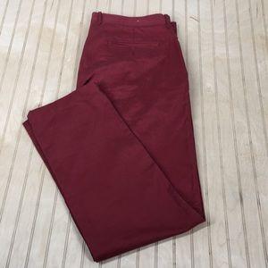 J.Crew Broken In Mens Pants Size W 36 Red